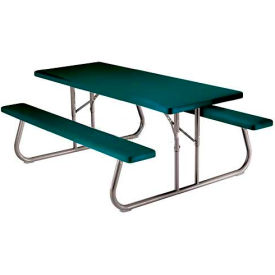"Lifetime® Fold-Away Picnic Table 72"" x 30"" - Green"
