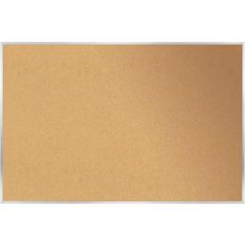 """Ghent® Cork Bulletin Board - Aluminum - 24""""W X 18""""H"""