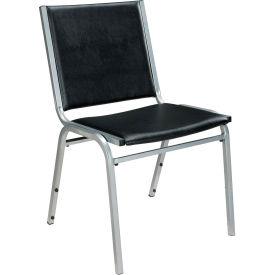Cypress Point Vinyl Stack Chair Black - Pkg Qty 4