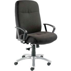 Big & Tall High Back Chair Loop Arms - Black