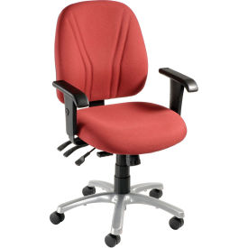 8-Way Adjustable Ergonomic Chair With Arms - Burgundy