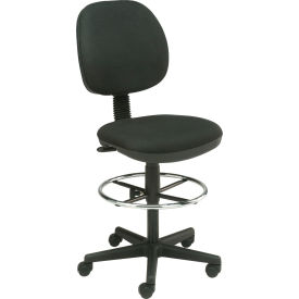 Interion™ Value Stool With  Pneumatic Height Adjustment - Black