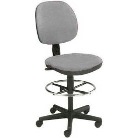 Interion™ Value Stool With  Pneumatic Height Adjustment - Gray