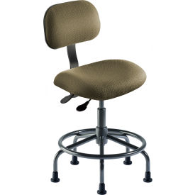 "BioFit Operator Chair -  Height Range 18 - 22"" - Navy Fabric - Black Powder Coat Metal"