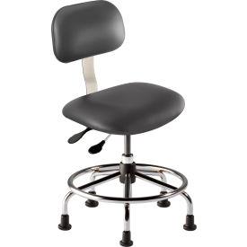 "BioFit Operator Chair -  Height Range 18 - 22"" - Navy Fabric - Chrome Metal"