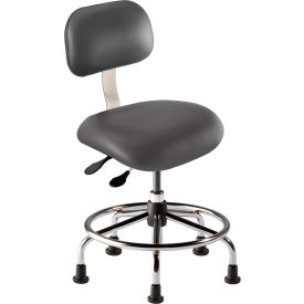 "BioFit Executive Chair Height Range 18 - 22"" - Navy Fabric - Chrome Metal"