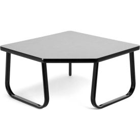 "OFM 30"" Corner Table with Sled Base, Gray"