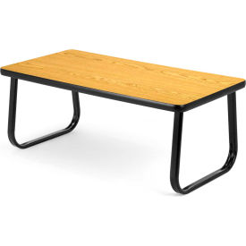 """OFM 40"""" Magazine Table with Sled Base, Oak"""