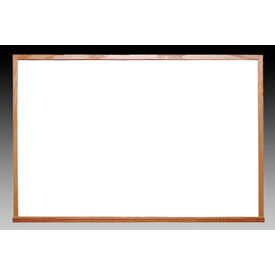 """Ghent 72"""" x 48""""H Whiteboard with Wood Frame - Non-Magnetic - Includes Marker/Eraser - USA Made"""