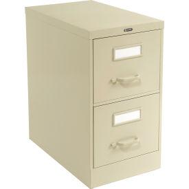 Global™ Vertical File Letter Size 2 Drawer, Light Grey