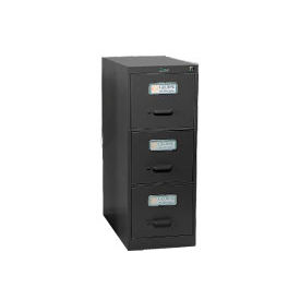 Global™ Vertical File Letter Size 3 Drawer, Black