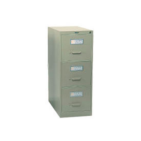 Global™ Vertical File Letter Size 3 Drawer, Desert Putty