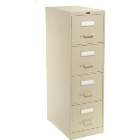 Global™ Vertical File Letter Size 4 Drawer, Desert Putty