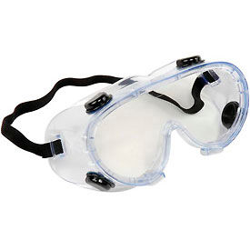 ERB™ 15147 Chemical Splash Resistant Goggles - Anti-Fog, Clear Lens, Black Straps