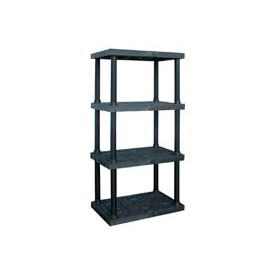 """Structural Plastic Vented Shelving, 36""""W x 24""""D x 75""""H, Black"""
