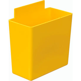 Quantum Little Bin QBC111 for Plastic Stacking Bins - 1-3/4 x 3-1/4 x 3 Yellow - Pkg Qty 48