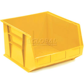 Plastic Storage Bin - Parts Storage Bin QUS270 16-1/2 x 18 x 11 Yellow - Pkg Qty 3