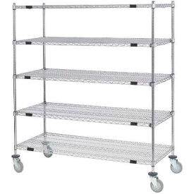 Open Sided Wire Exchange Truck - Five Wire Shelves - 800 Lb. Cap.