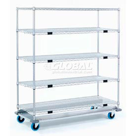 Open Sided Wire Exchange Truck - Five Wire Shelves - 1000 Lb. Cap