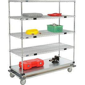 Open Sided Wire Exchange Truck - Four Wire & One Galvanized Shelf - 1000 Lb. Cap