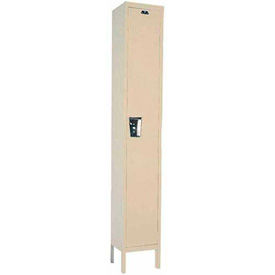Hallowell UY1228-1 Maintenance-Free Quiet Locker Single 12x12x72 1 Door Ready To Assemble Parchment