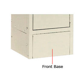 """Hallowell KCFB12PT Steel Locker Accessory, Closed Front Base 12""""W x 6""""H  729 Parchment"""