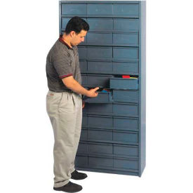 """18""""D Metal Drawer Storage Cabinet with 72 Drawers"""