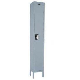 Hallowell UY1588-1 Maintenance-Free Quiet Locker Single Tier 15x18x72 1 Door Ready To Assemble Gray