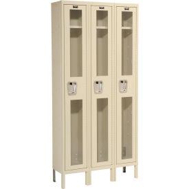 Hallowell USV3258-1A-PT Safety-View Locker Single Tier 12x15x72 3 Doors Assembled Parchment
