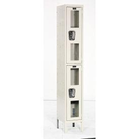 Hallowell USV1258-2A-PT Safety-View Locker Double Tier 12x15x36 2 Doors Assembled Parchment