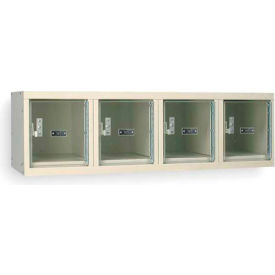 Hallowell USVP1482-4WMPT Safety-View Locker 4 Person Wall 12x18x12 4 Door Unassembled Parchment