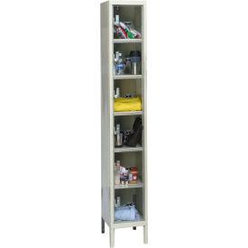 Hallowell USVP1228-6A-PT Safety-View Locker Six Tier 12x12x12 6 Doors Assembled Parchment