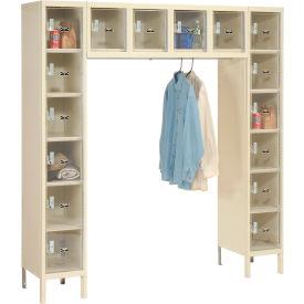 Hallowell USVP1788-16APT Safety-View Locker 16 Person 12x18x12 16 Doors Assembled Parchment