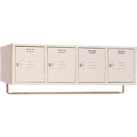 Lyon Locker PP5991CRSU Four Person Wall 45x18x13-3/4, 4 Doors Hasp Handle, Assemble Putty