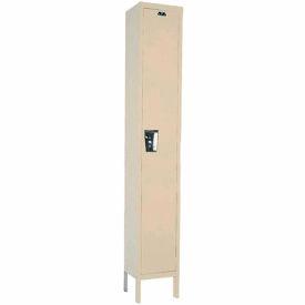 Hallowell UY1288-1A-PT Locker Single Tier 12x18x72 1 Door Assembled Parchment