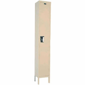 Hallowell UY1888-1A- Maintenance-Free Quiet Locker Single Tier 18x18x72 1 Door Assembled Parchment