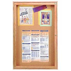 """United Visual Products Bulletin Board One Door, 36""""W x 36""""H"""