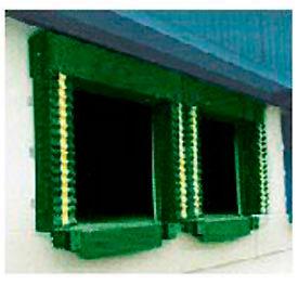 Chalfant Green Dock Door Seal Model 130 Heavy Duty 40 Ounce 8'W x 8'H with HD Wear Pleats