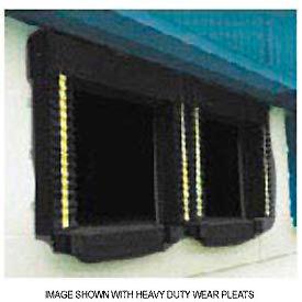 Chalfant Black Dock Door Seal Model 130 Heavy Duty 40 Ounce 8'W x 9'H by