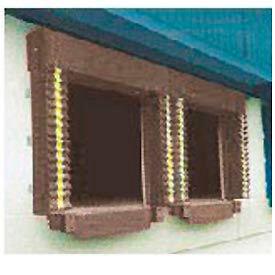 Chalfant Brown Dock Door Seal Model 131 Heavy Duty 40 Ounce 8'W x 10'H with HD Wear Pleats