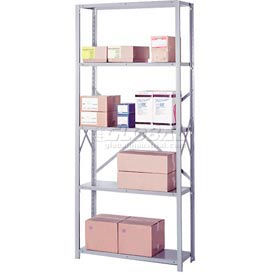 "Lyon Steel Shelving 22 Gauge 36""W x 12""D x 84""H Open Clip Style 5 Shelves Gy Starter"
