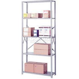 """Lyon Steel Shelving 20 Gauge 48""""W x 12""""D x 84""""H Open Clip Style 5 Shelves Py Starter"""