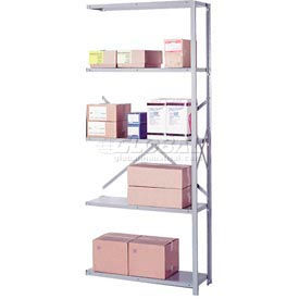 "Lyon Steel Shelving 20 Gauge 48""W x 12""D x 84""H Open Clip Style 5 Shelves Py Add-On"