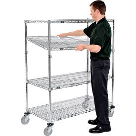 Nexel® E-Z Adjust Wire Shelf Truck 60x18x60 1200 Pound Capacity