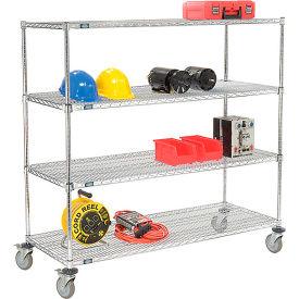 Nexel® E-Z Adjust Wire Shelf Truck 60x18x60 1200 Pound Capacity with Brakes