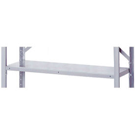 """36"""" x 18"""" Gray Shelving Clip Style Accessory Shelf With Clips"""