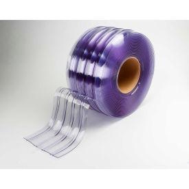 "TMI PVC Strip Curtain Bulk Roll - Scratch Resistant Ribbed Clear - 8"" x 150' x .072"""