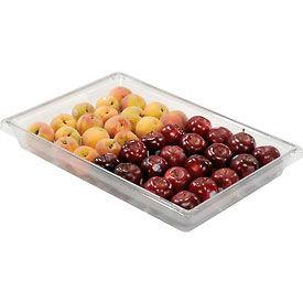 Rubbermaid 3306-00 Clear Plastic Box 5 Gallon 18 x 26 x 3-1/2 - Pkg Qty 6