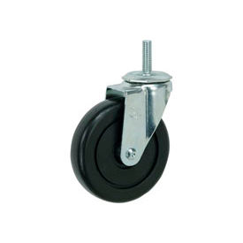 "Faultless Swivel Threaded Stem Caster 4"" Polyolefin Wheel"