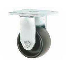 "Faultless Rigid Plate Caster 3461-4 4"" Polyolefin Wheel"